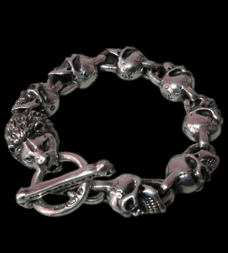 画像1: Lion With Skulls Links Bracelet