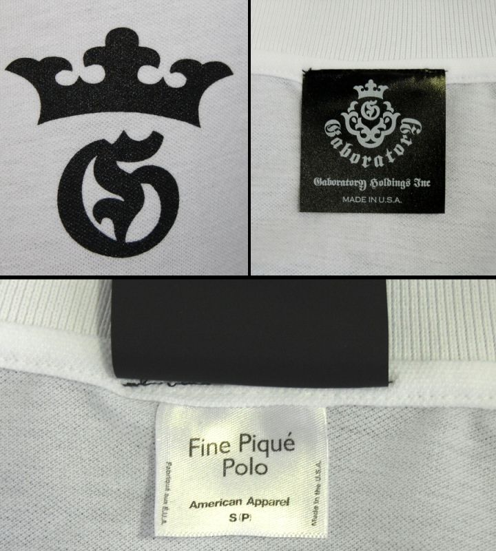 画像3: Gaboratory G&Crown Polo Shirt(White)