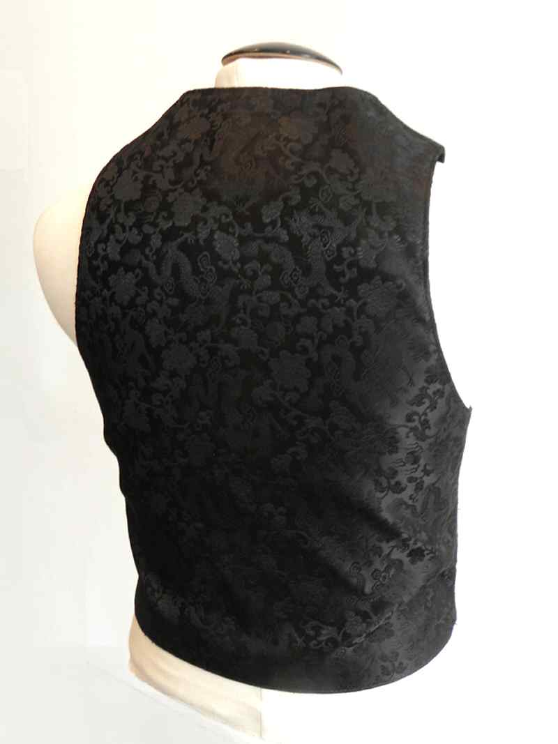 画像1: Gaboratory Tailored Leather Vest (Chinese silk back)