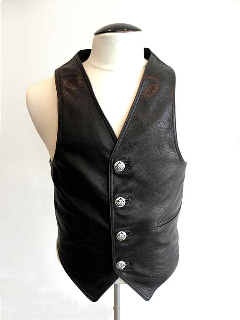 画像2: Gaboratory Tailored Leather Vest (Atelier mark art work)