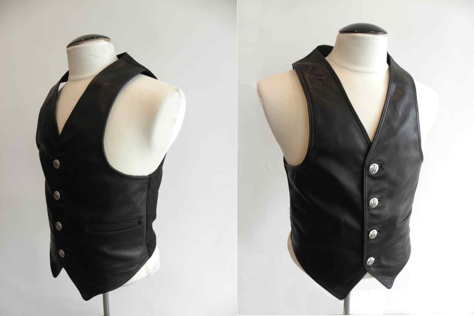 画像3: Gaboratory Tailored Leather Vest (Chinese silk back)