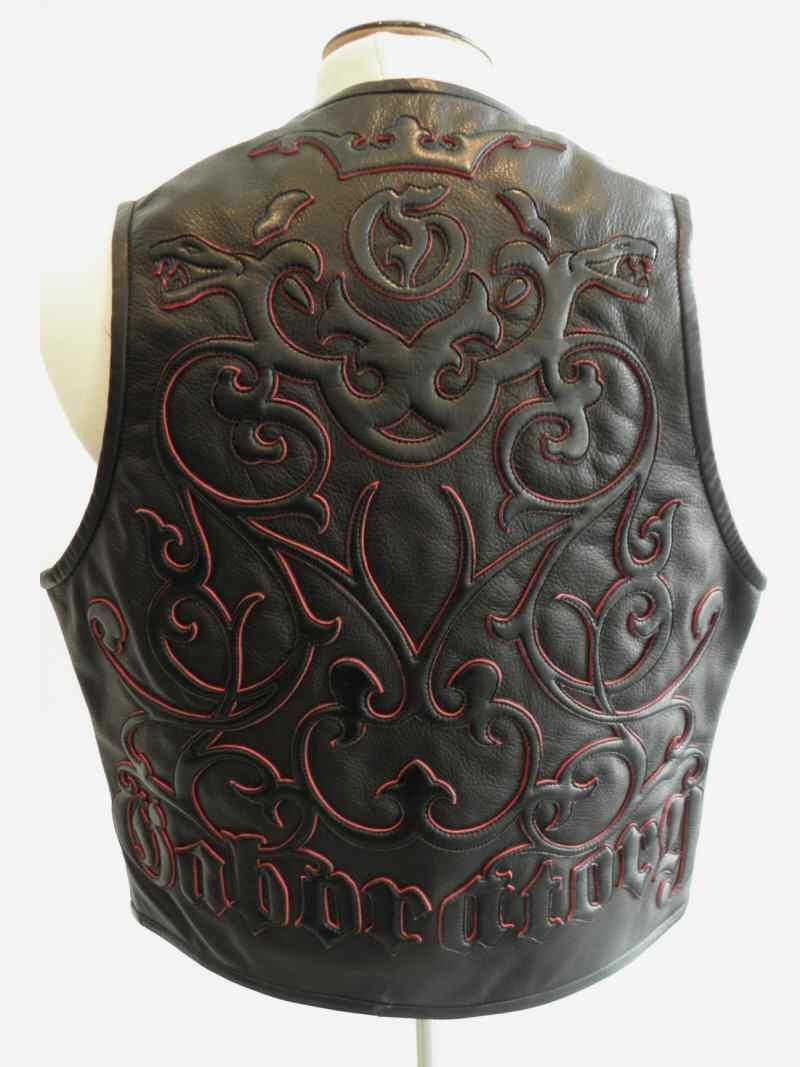 画像2: Gaboratory Tailored Leather Vest (Tribal art work)