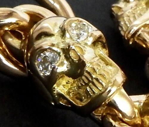 画像2: 18k 7 Skull with Diamond Bracelet