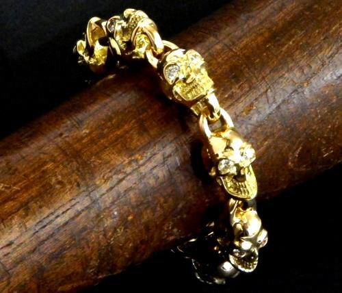 画像5: 18k 7 Skull with Diamond Bracelet