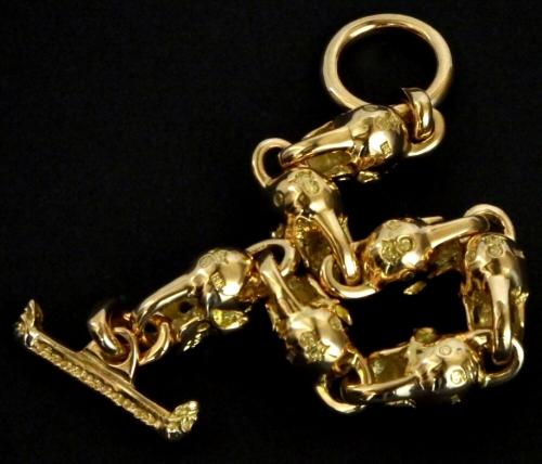 画像4: 18k 7 Skull with Diamond Bracelet