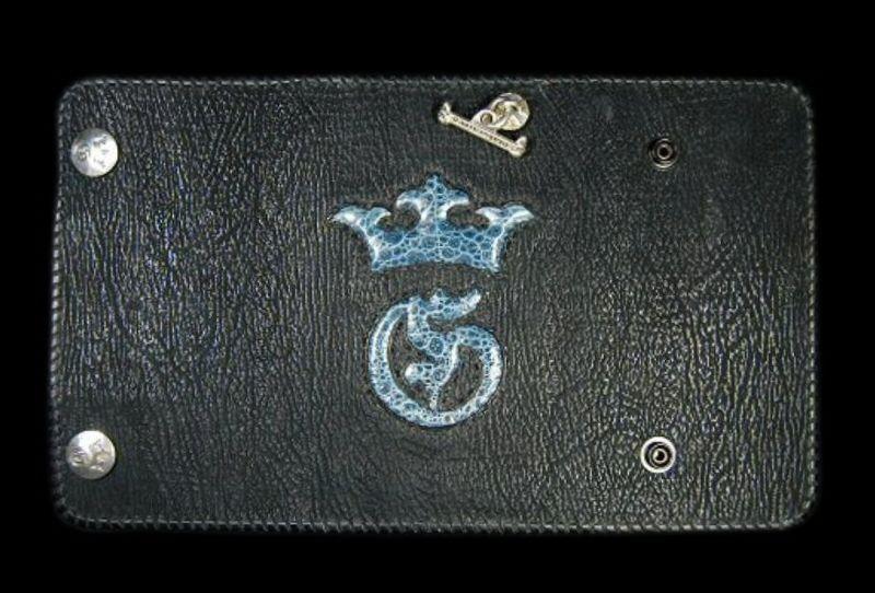 画像1: Frog G&Crown Inlay Shark Long Wallet