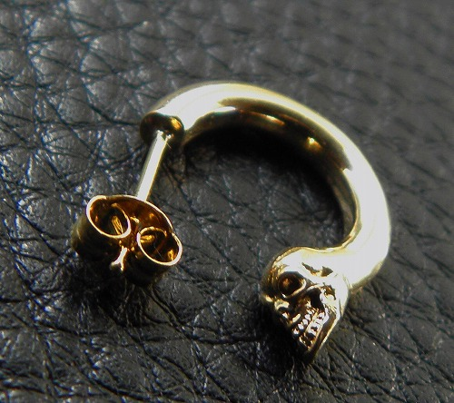 画像4: 10K Gold Phantom T-bar Skull On O-ring Pierce