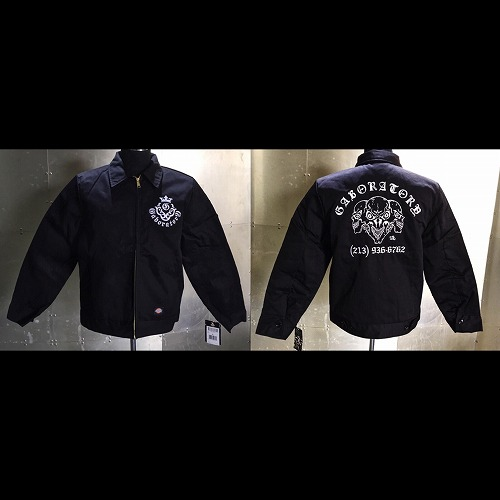 画像1: Gaboratory Triple skull Embroidery Work Jacket (刺繍)