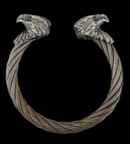 画像1: Eagle Cable Wire Bangle
