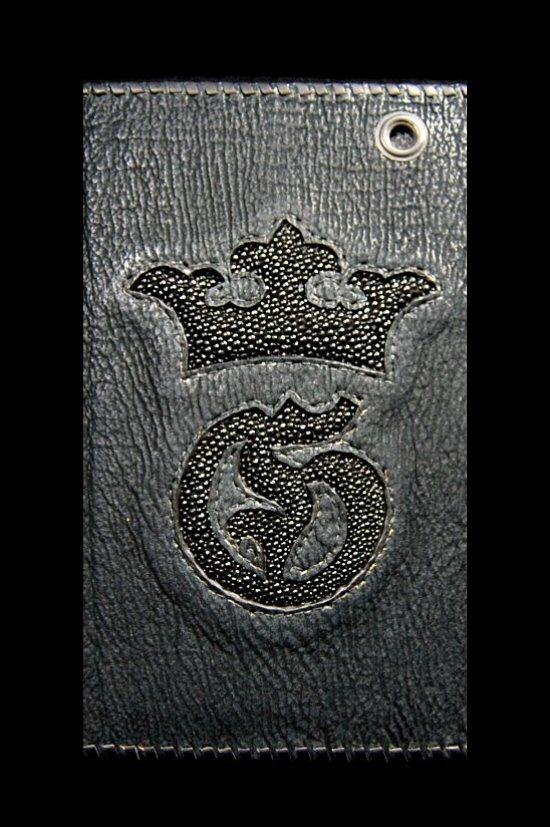 画像2: Stingray G&Crown Inlay Shark Long Wallet