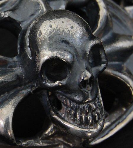 画像2: Skull On Cross Oval Id  With H.W.O & Chiseled Anchor Links Bracelet