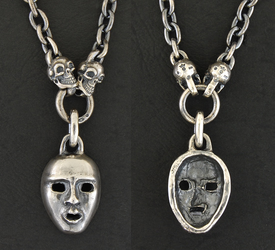 画像4: Face With 2 Quarter Skull & 7Chain Necklace