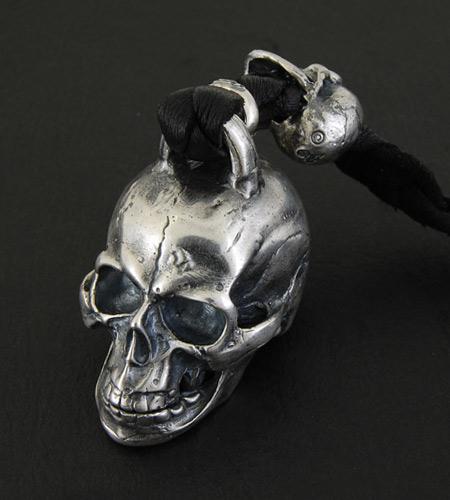 画像4: XL Skull With Lion Leather Wallet Hanger