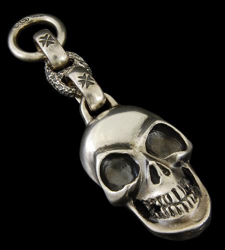画像1: Giant Skull With Chiseled Anchor Wallet Hanger