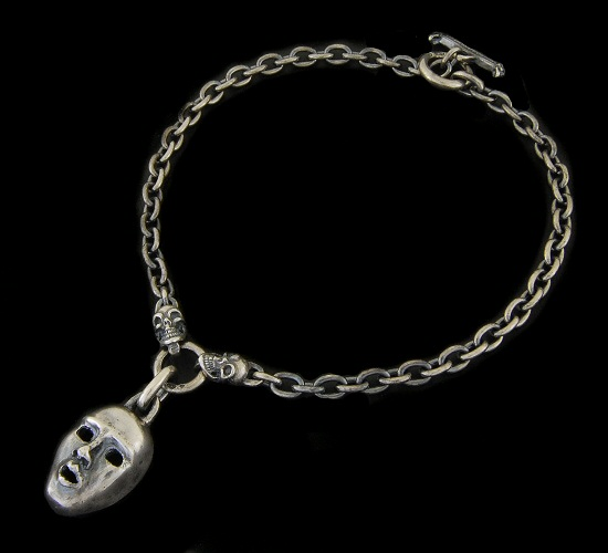 画像1: Face With 2 Quarter Skull & 7Chain Necklace
