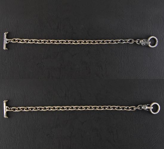 画像2: Quarter Skull Half Chain Bracelet