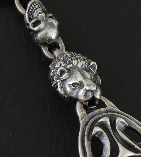 画像4: Sculpted Oval With 2 Lions & 2Skulls Bracelet