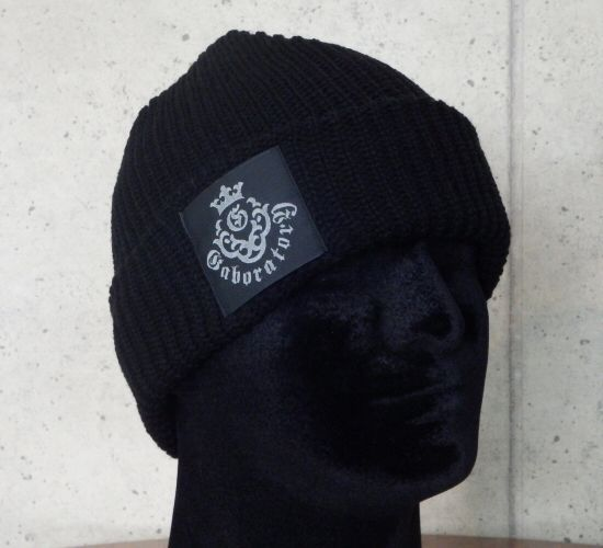 画像1: Atelier mark watch cap (Black)