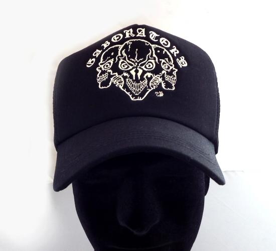 画像2: Triple Skull Mesh Cap (Snap-back)