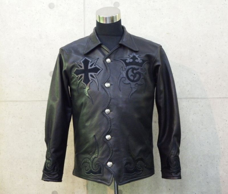 画像1: Gaboratory Tribal Leather Shirt (Long sleeve)