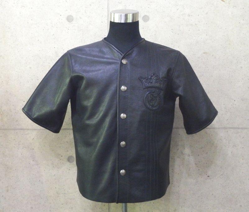 画像1: Gaboratory Tribal Base Ball Leather Shirt