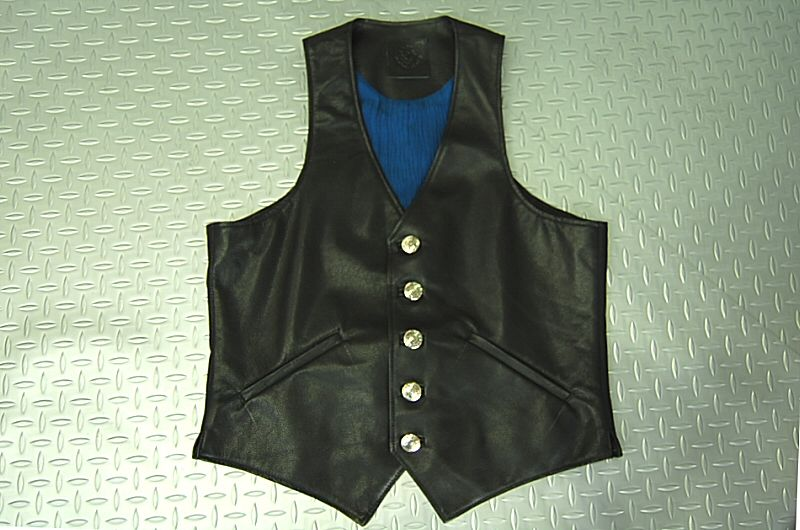 画像1: Gaboratory Leather Vest