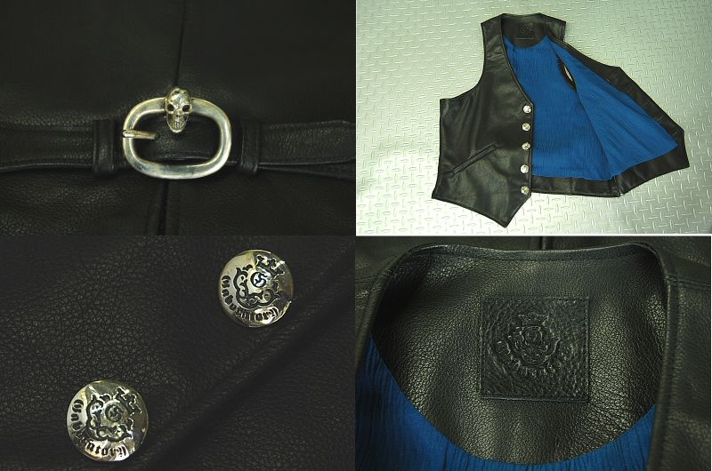 画像2: Gaboratory Leather Vest