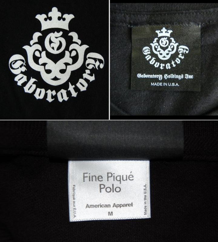 画像3: Gaboratory Atelier Mark Polo Shirt(Black)