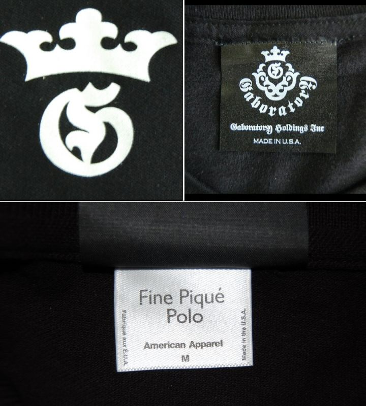 画像3: Gaboratory G&Crown Polo Shirt(Black)