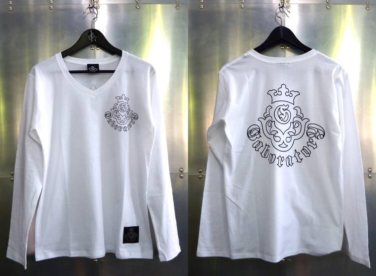 画像1: Atelier mark V-neck T-Shirt [White]