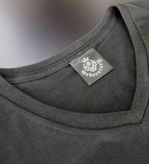 画像2: Atelier mark V-neck T-Shirt [Black]