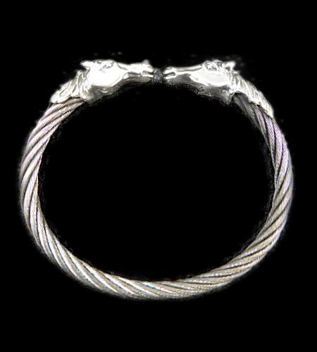 画像1: Half Horse Cable Wire Bangle