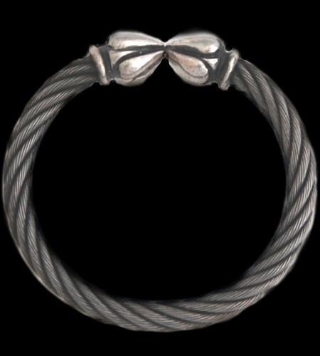 画像1: Noodle Cable Wire Bangle