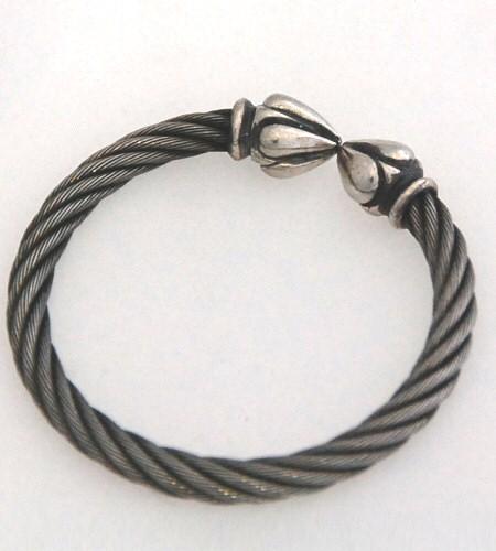 画像2: Noodle Cable Wire Bangle