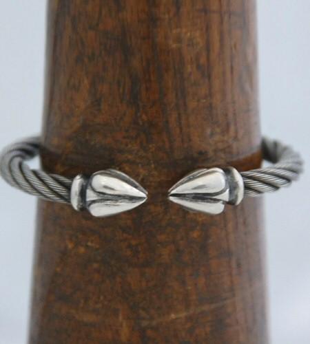 画像3: Noodle Cable Wire Bangle
