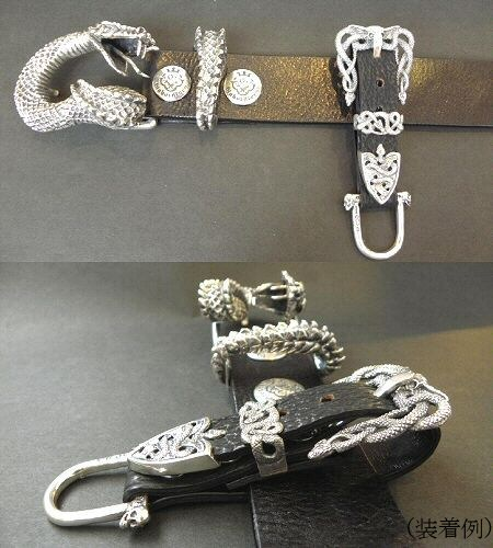 画像4: Buffalo Skull On Snake Buckle Belt Loop