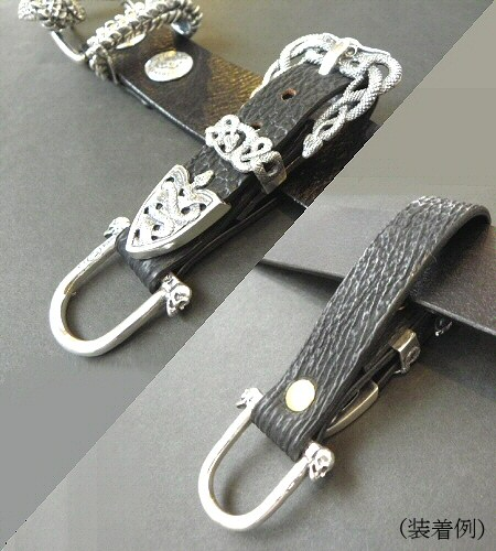画像5: Buffalo Skull On Snake Buckle Belt Loop