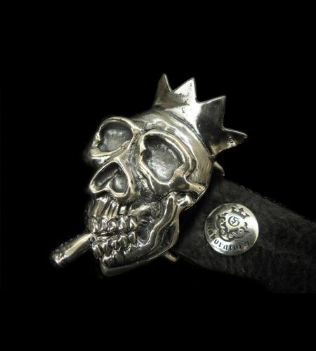 画像1: Smorking Skull & Crown Belt Buckle