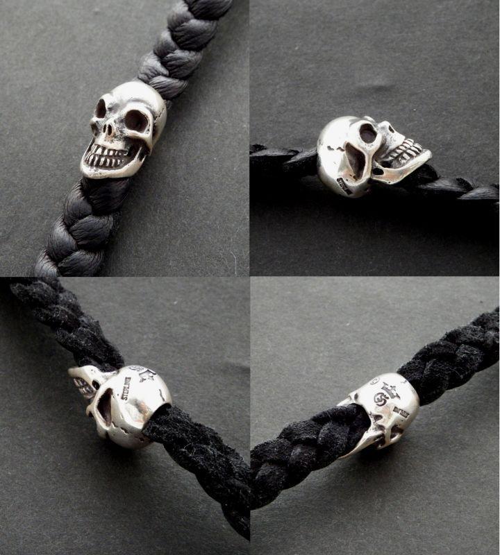 画像3: Skull On braid leather bracelet