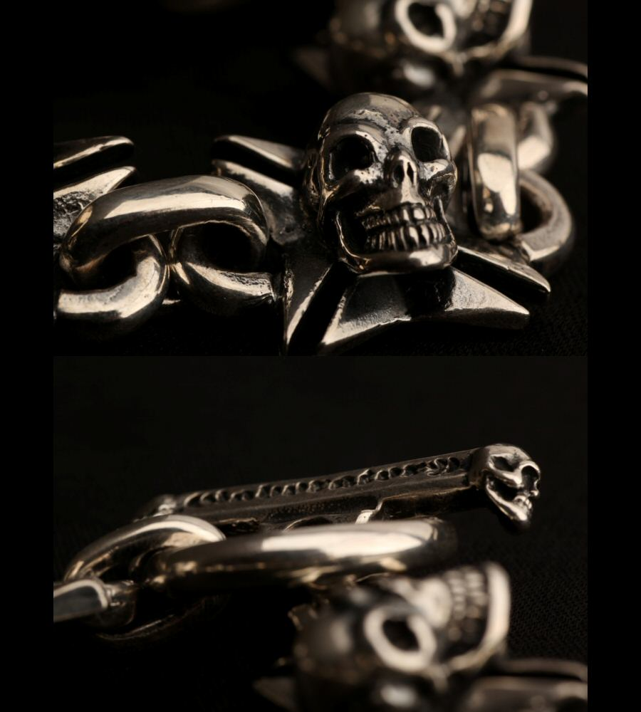 画像4: Skull On Maltese Cross Links Bracelet