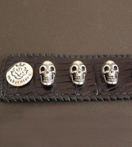 画像5: 8Skull Crocodile Leather Wrist band