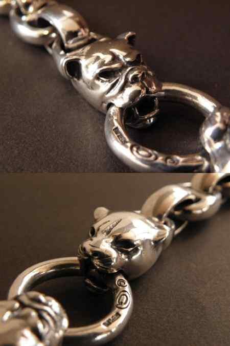 画像4: Panther & Bulldog With Smooth H.W.O & Anchor Links Bracelet