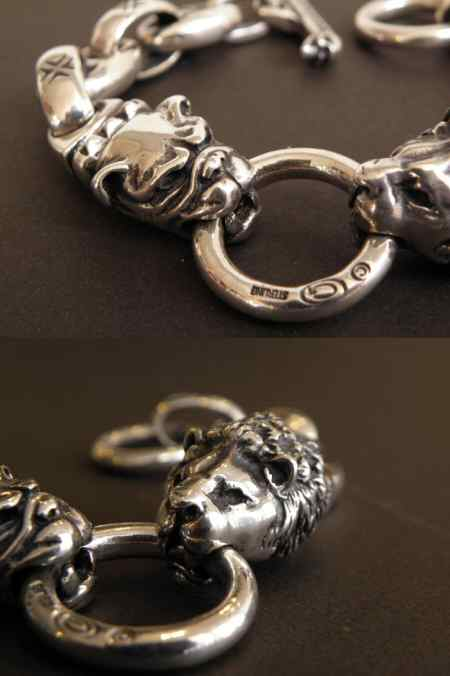 画像3: Lion & Old bulldog With H.W.O & Anchor Links Bracelet