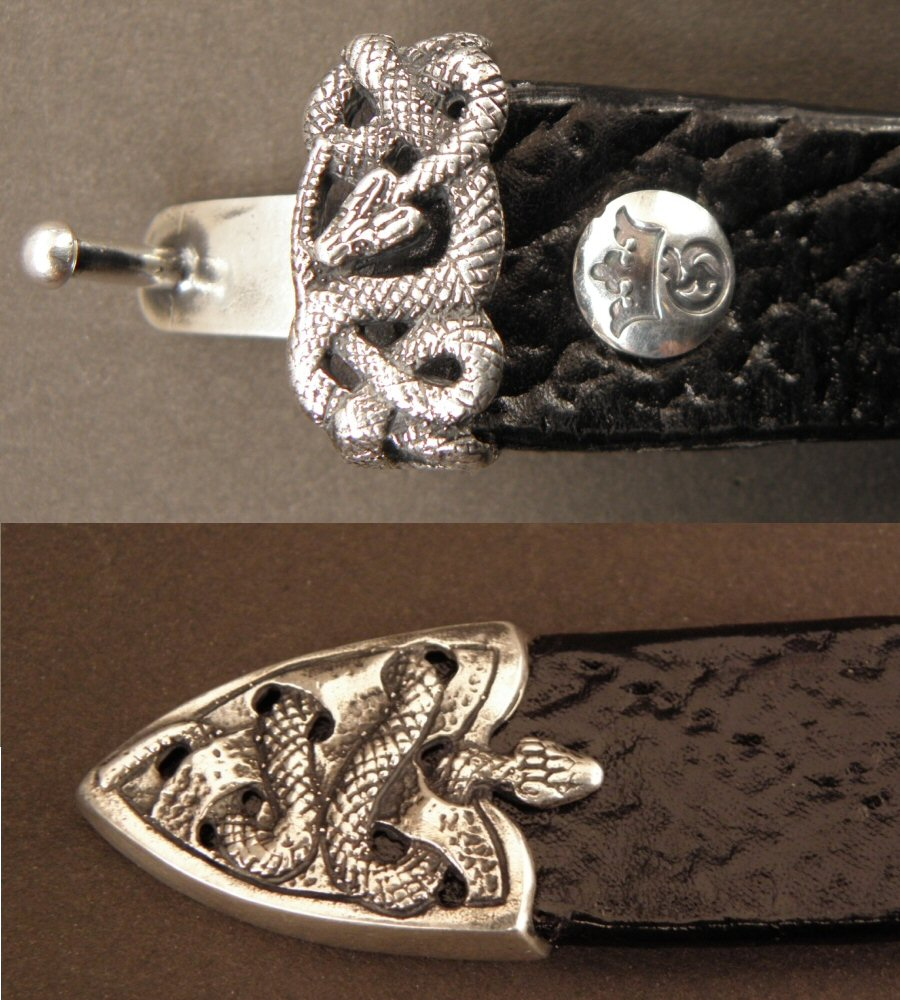 画像4: Snake Loop & Tip Leather Bracelet