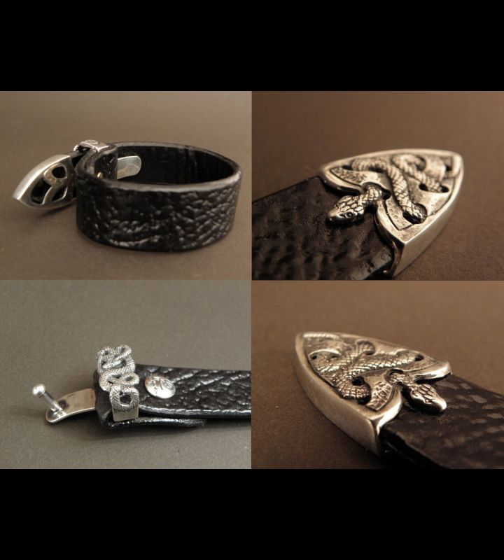 画像5: Snake Loop & Tip Leather Bracelet