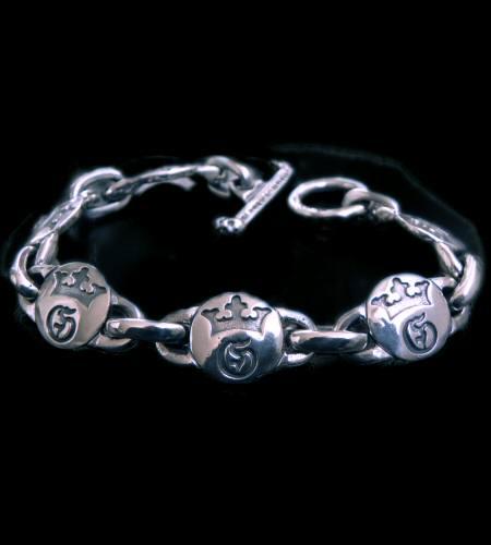画像1: Medium G&Crown links bracelet