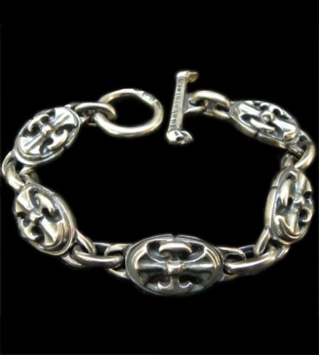 画像1: All Battle-Ax Oval Links Bracelet