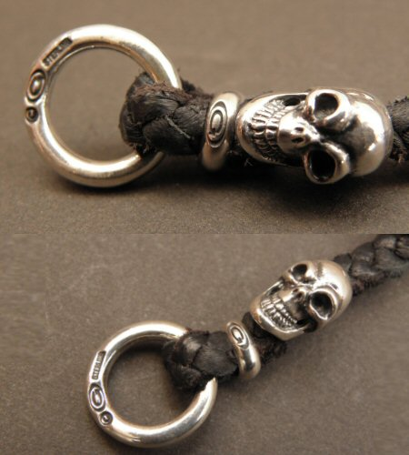 画像5: Quarter 7Skulls braid leather bracelet