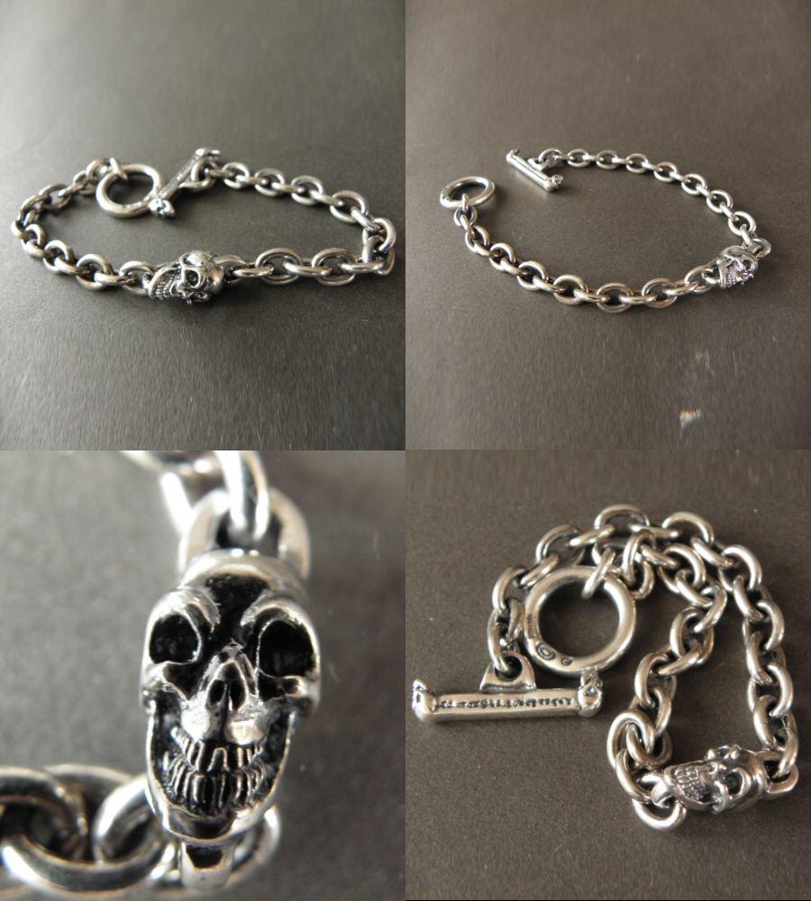 画像3: Quarter Skull On Half Chain Bracelet