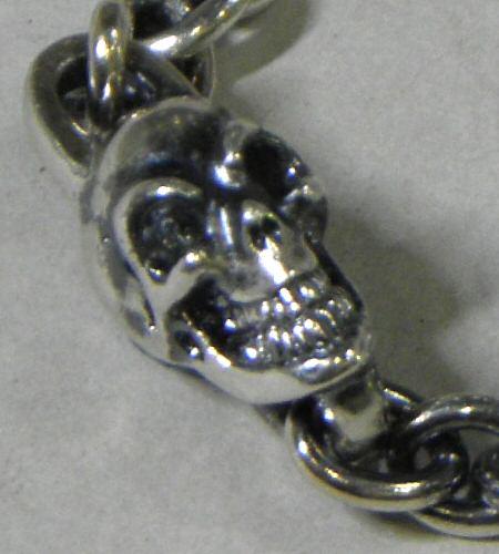 画像4: Quarter Skull On Quarter Chain Bracelet